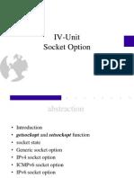 IV Unit(Socket Options)