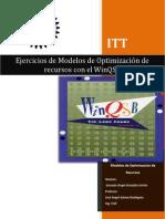 Modelos de Optimizacion de Recursos