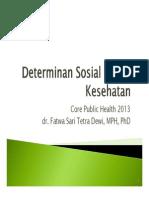 Sesi 3 Fsd Determinan Sosial Dalam Kesehatan