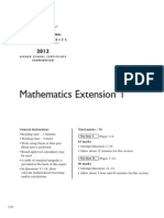 2012 Hsc Exam Maths Ext1