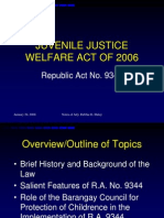 11604964 Juvenile Justice Welfare Act of 2006