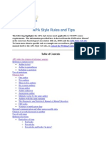 APA Style Rules and Tips