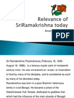 Relevance of Sriramakrishna