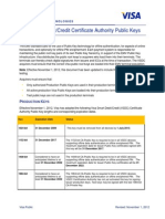 Visa Public Key Tables 2012 11
