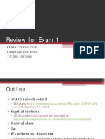 Language and Mind Review for Exam