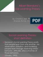 Shanda & Christina J. Albert Banduras Social Learning Theory