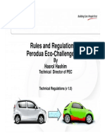 Perodua Eco-Challenge 2013 Rules and Regulation 2013
