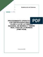 Certificados procedimientos