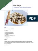 Beech Mushrooms Recipe