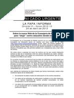 13-04-24 circular web escolarización