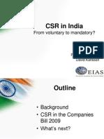 CSR in India 20110225 David