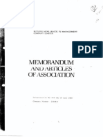 memorandum of articles of association - typical
