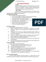 Economics Class 11 Unit 13-Development-planning