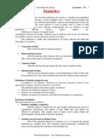 Economics Class 11 Unit 14-Statistics
