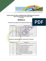 Corrector Directores de autoescuela Modelo A 2013 Arisoft