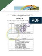 Corrector Directores de autoescuela Modelo B 2013 Arisoft
