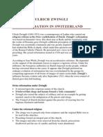 Ulrich Zwingli - Reformation in Switzerland