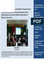 Strengthening Capacity of Women along the Central Mekong Delta Connectivity (CMDC) Project Phase II (My An to Cao Lanh)