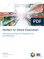 Perfect in-store execution, a major source of untapped value