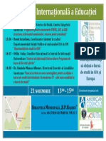 Anunt Saptamana Internationala a Educatiei 2013