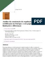 Análise da construção de regulação da energia e traduzido