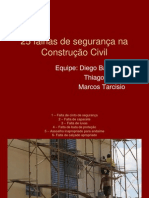 25 falhas de segurança na Construção Civil