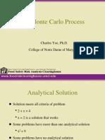 Monte Carlo Process FDA