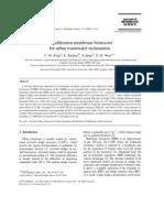 Xing C.H, Terdien E, Et Al. Ultrafiltration Membrane Bioreactor