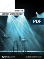 PORTABLE CHURCH INDUSTRIES - What Every Multi-Site Church Should Know - A Collection of Essays Vol.1