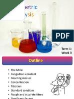 Autumn Lecture 5 (Volumetric Analysis)