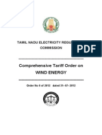 TNERC-Tariff Order for Wind Energy-2012 (1)
