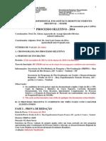 Cronograma Do Processo Seletivo MGDR 2014