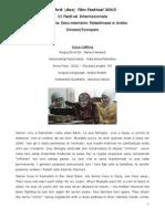 Al Ard [doc] film festival 2013  - Sinossi/Synopsis
