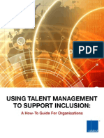 Using Talent Management to Support Inclusion a How to Guide for Organisations