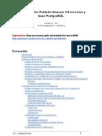 (viejo) Instalación Pentaho biserver 3.8 en Linux y base PostgreSQL