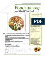 Real Food Challenge Guideline
