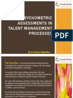 Use Of Psychometric Assessments In Talent Management Processes