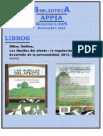 Biblioteca APPIA - Adquisiciones Nov 2013