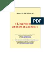 Halbwachs Expression Emotions