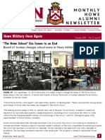 Howe Military Academy Maroon & White October Newsletter