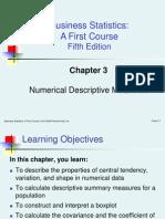 Numerical Descriptive Measures