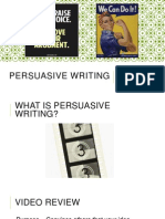 persuasive writing mini lessons