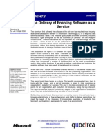 The delivery of enabling software as a service