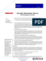 Security barometer survey