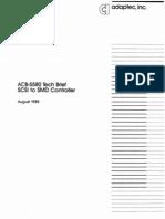 ACB5580 Tech Brief Aug85