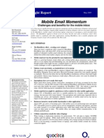 Mobile email momentum