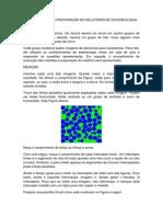 INSTRUÇÃO PARA PREPARAÇÃO DO RELATÓRIO DE ESTEREOLOGIA