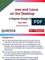 Windows and Linux on the desktop (slide set)