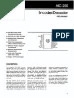 AIC-250 Encoder DecoderAIC-250 Encoder DecoderAIC-250 Encoder Decoder