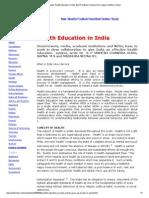 The Indian Analyst, Health Education in India, By B P Mahesh Chandra Guru, Sapna, Madhura Veena